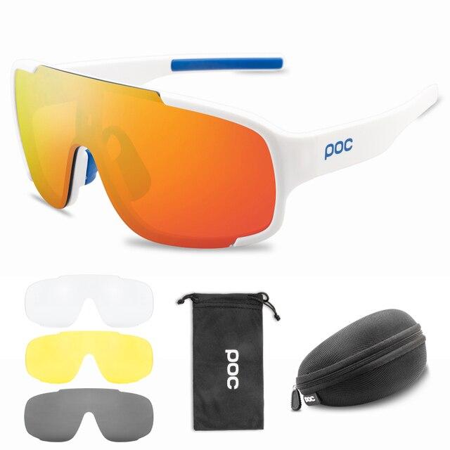 4 lentes conjunto poc crave ciclismo óculos de sol da bicicleta do esporte das mulheres dos homens mountain bike mtb ciclo eyewear 4