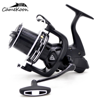 CAMEKOON long cast spinning fishing reel for surf casting fishing 20KG carbon drag ultra high capacity saltwater fishing coil