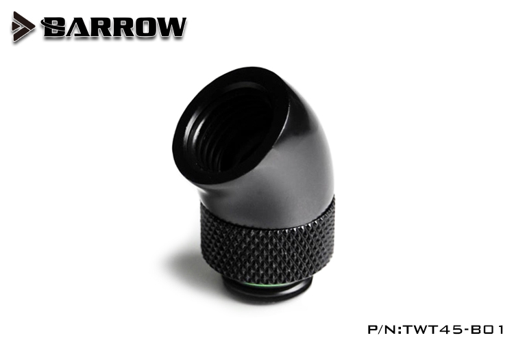 Barrow Black White Silver G1 / 4 '' Thread 45 Degree Rotary Fitting Adapter Rotating 45 Degree Water Cooling Adapter TWT45-B01