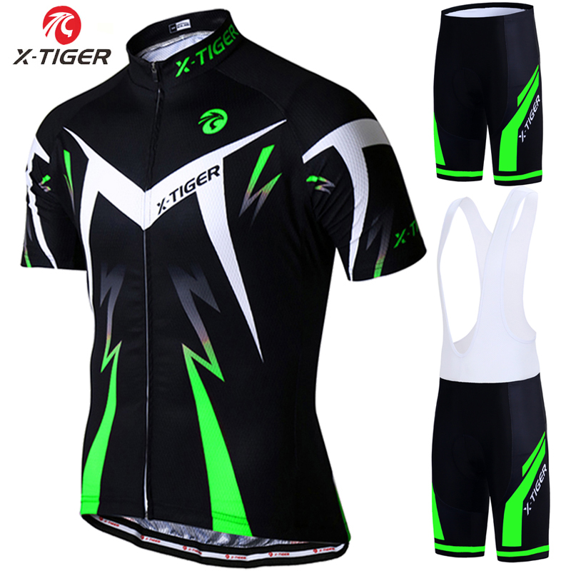 X Tiger Pro Cycling Jersey Set Summer Cycling Wear Mountain Bike Clothes Bicycle Clothing MTB Bike