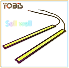 2PIECE COB 17cm Universal Daytime Running Light DRL day line light led daytime running lights ultra-thin waterproof