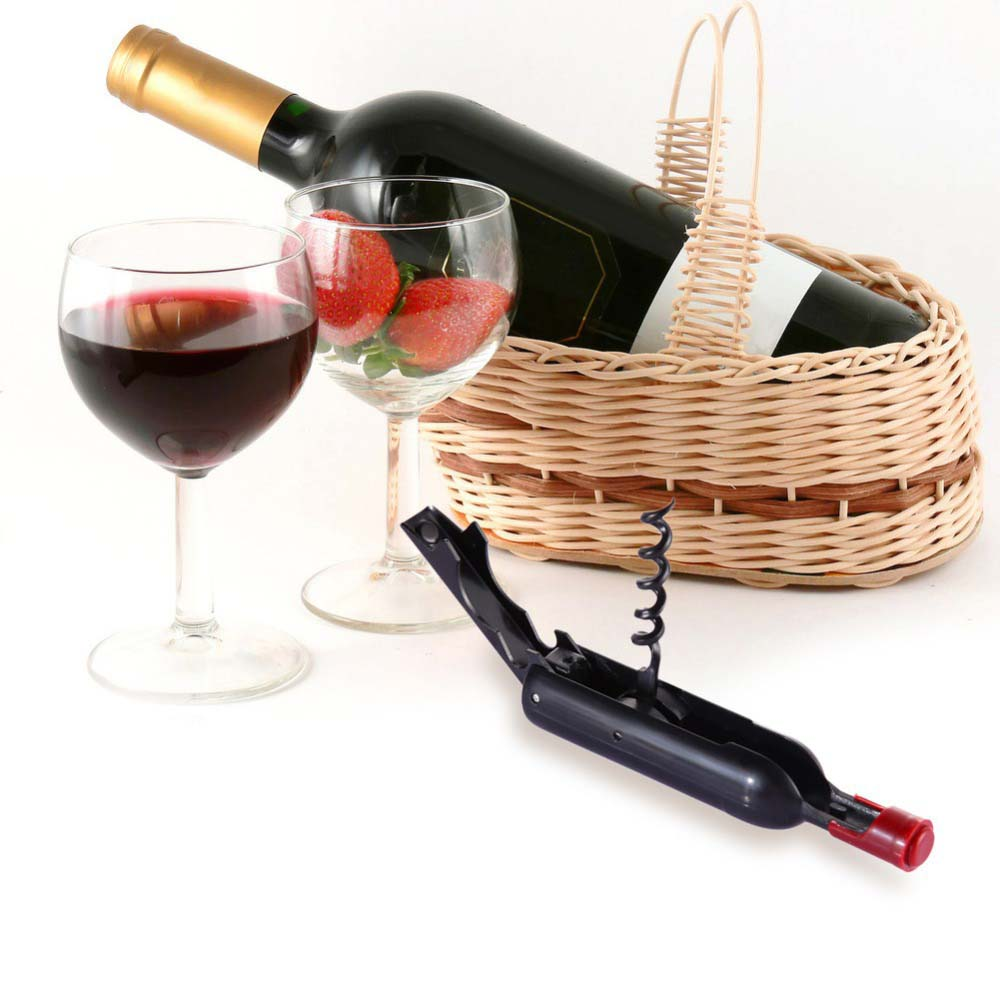 1pcs Creative Wine Bottle Shape Stainless Steel Red Wine Opener With Magnet High Quanlity Portable Multifunction Bottle Openers