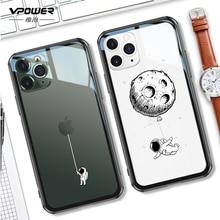 Iphone için temperli cam durumda 11 pro max 6.5 6.1 koruma şeffaf şeffaf telefon kılıfları iphone 11 pro cam kabuk kapak