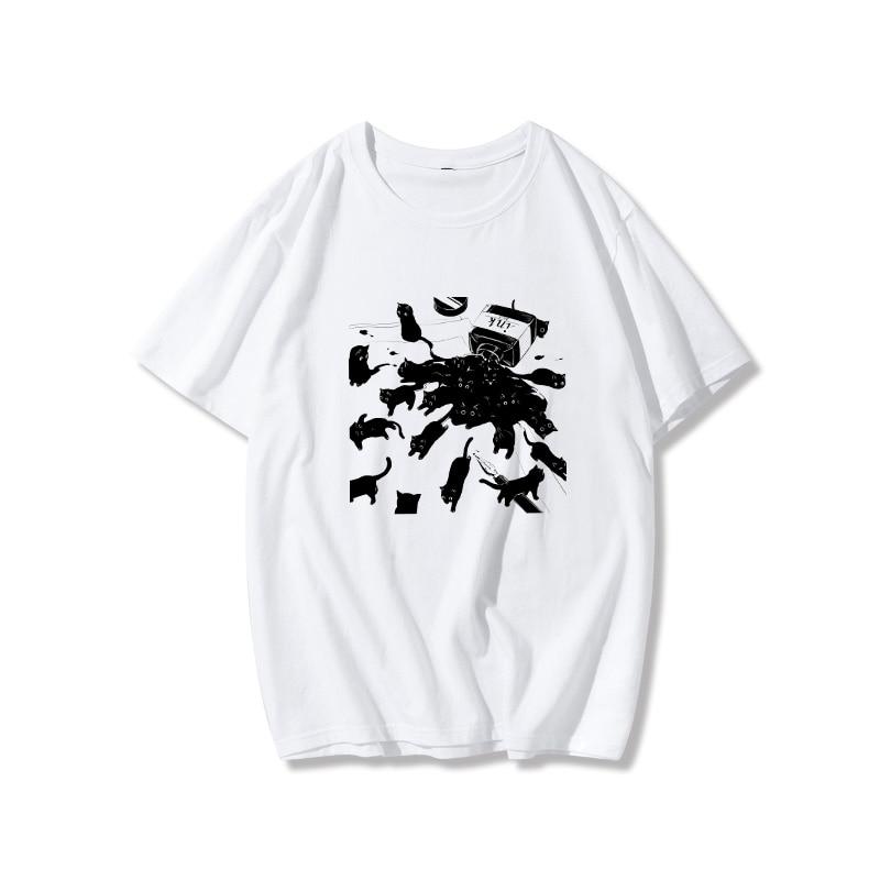 Black Cat Spilled Ink T-Shirt