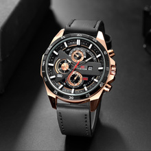 Men Watch 2019 Fashion Sports Quartz Watch New Mens Watches Top Brand Luxury Men's Leather Casual Waterproof Military Date Clock все цены