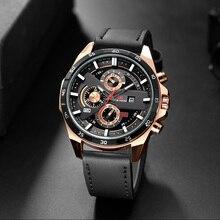Men Watch 2019 Fashion Sports Quartz Watch New Mens Watches Top Brand Luxury Men's Leather Casual Waterproof Military Date Clock цена и фото