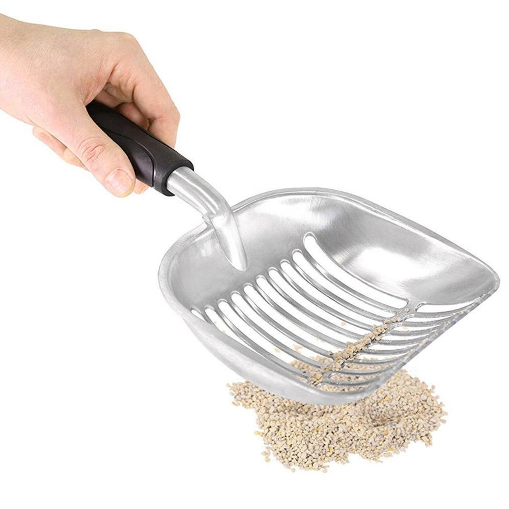 Metal Aluminum Cat Litter Shovel Pet Shovel Artifact Cat Shovel Cat Sand Shovel Large Thick Professional