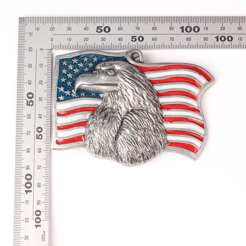 Vulture Eagle American Flag Pattern Belt Buckle Handmade homemade belt accessories waistband DIY Components