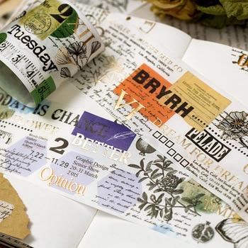 1pc Specimen Record Foiled Washi Tape PET Adhesive Tape DIY Scrapbooking Sticker Label Japanese Masking tape mac foiled