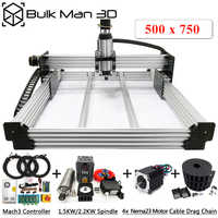 WorkBee CNC Router Machine Complete Kit 500x750mm 4Axis Woodworking CNC Engraving Milling Machine DIY CNC Metal Carving Cutter