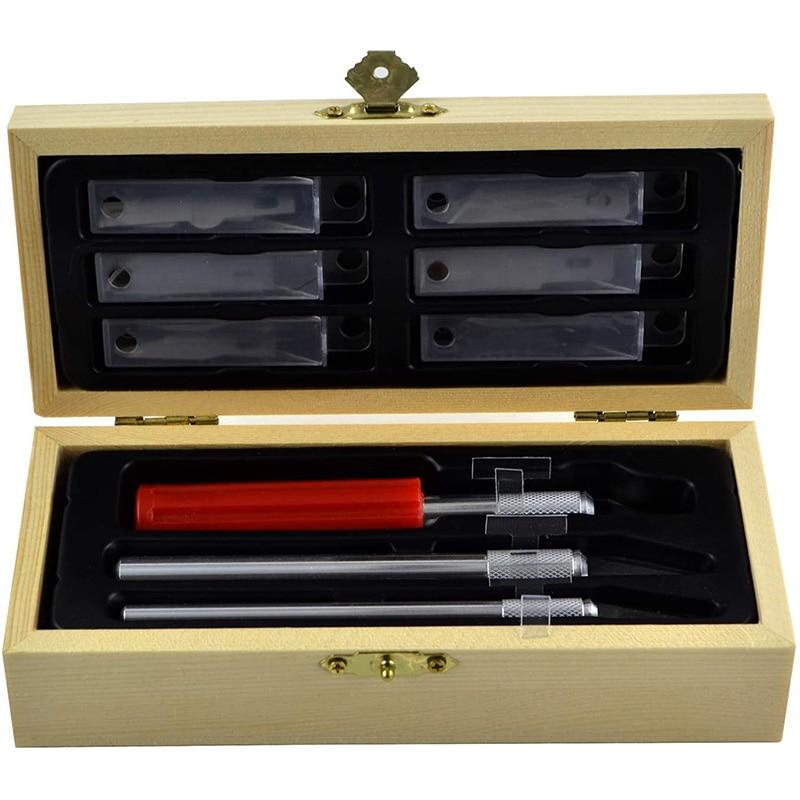 SHGO горячей точность Ножи с лезвия, Ремесло Хобби Ножи комплект дерево ремесло Ножи с точной резки лезвия Ножи для творчества