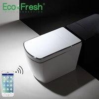 Ecofresh automatic sensor flushing electric one piece tankless intelligent smart toilet