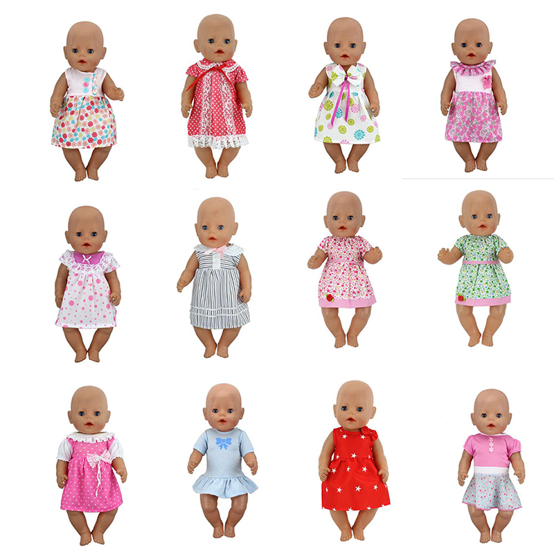 New  Fashion Dress Doll Clothes Fit For 43cm Baby Doll Clothes Reborn Doll Accessories