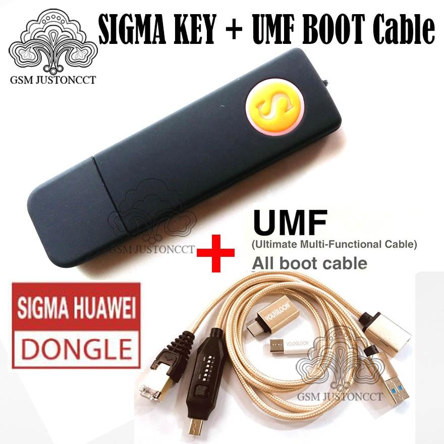 أحدث 100% أداة مفاتيح سيجما أصلية sigmakey دونجل لإصلاح الفلاش من هواوي إفتح + (UMF) كابل التمهيد الكل في واحد
