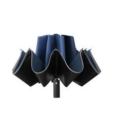 Inverted-Umbrella Automatic Rain Reflective-Stripe Portable Windproof with Folding