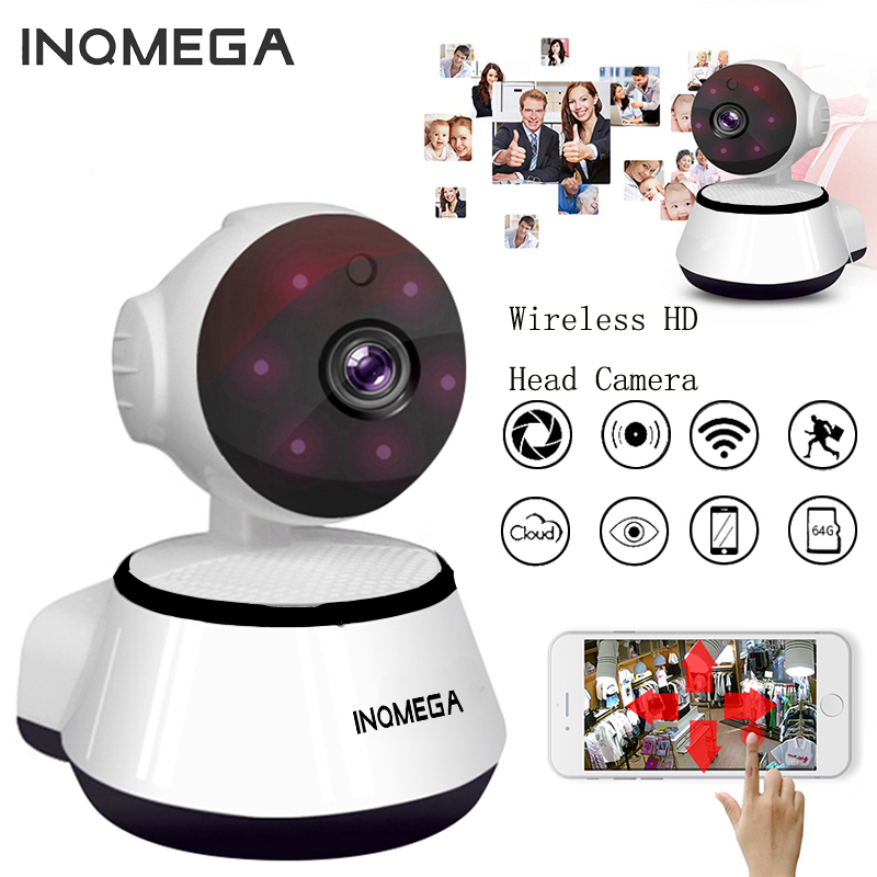 INQMEGA 720P PTZ Indoor Smart Home Camera Night Vision 360 Degree Panoramic Fish Eye Camera Baby Monitor Pet IP Camera