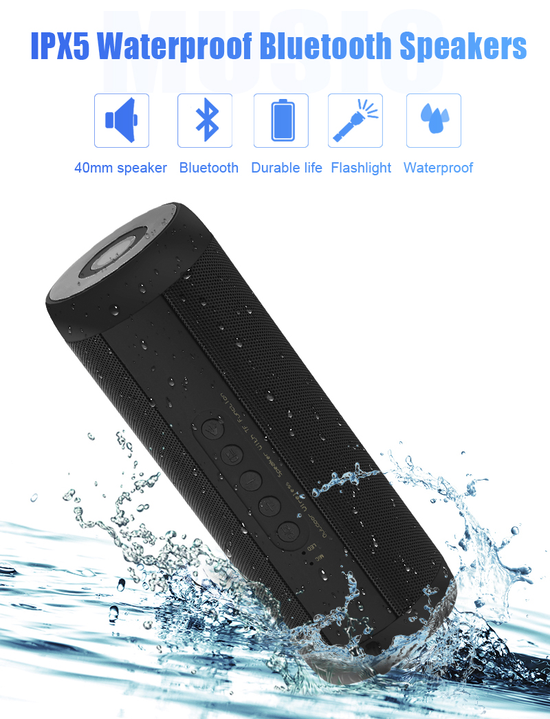 Details about Wireless Bluetooth Speakers Best Waterproof Portable Outdoor-  Black