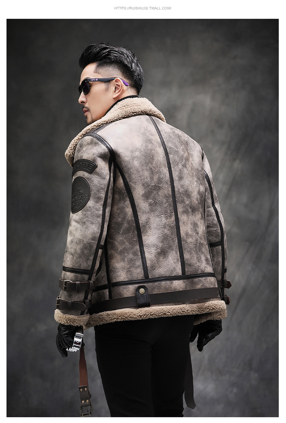 H180016cb58a64b5491eb7548796bab883 2019 Fashion 100% Quality Real Sheepskin Fur Men Coat Genuine Full Pelt Sheep Shearling Male Winter Jacket Brown Men Fur Outwear