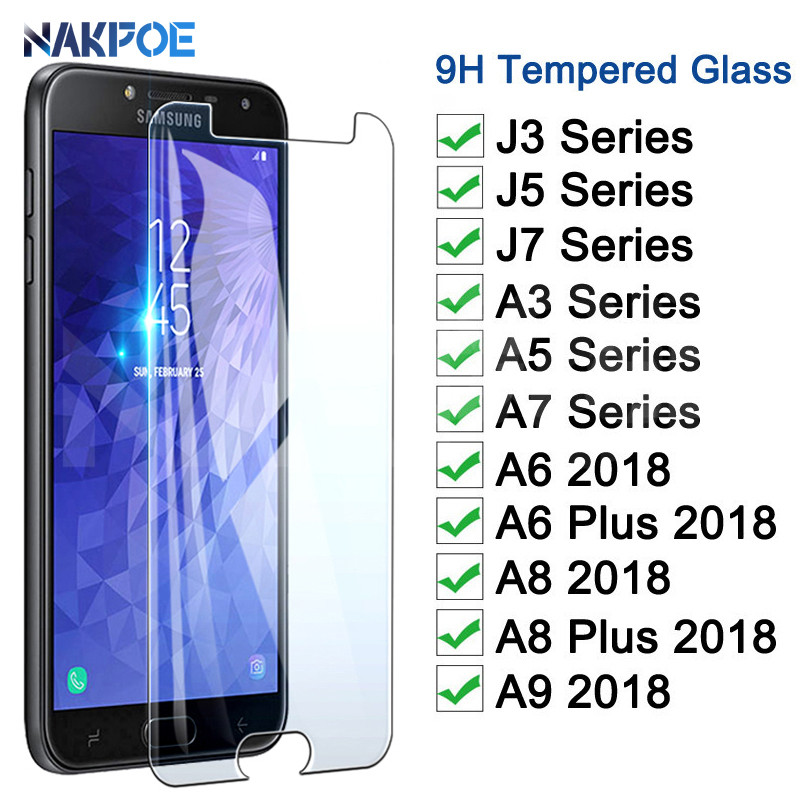 0.22mm Tempered Glass On The For Samsung Galaxy J3 J5 J7 A3 A5 A7 2016 2015 2017 A6 A8 A9 2018 Screen Protector Protective Film