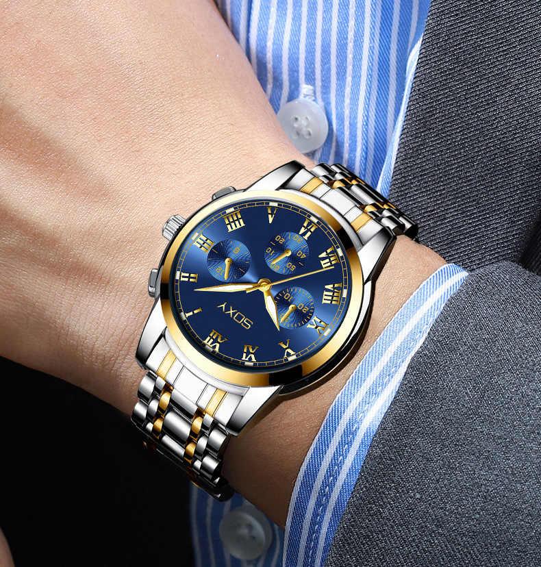 남자 시계 남자 시계 비즈니스 럭셔리 스테인레스 스틸 시계 남자 군사 스포츠 relogio masculino reloj hombre 2020 New
