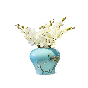 Image 5 - INDIGO  Phalaenopsis papillon blanc orchidée vraie touche artificielle fleur bureau mariage papillon orchidée fête florale garniture intérieure