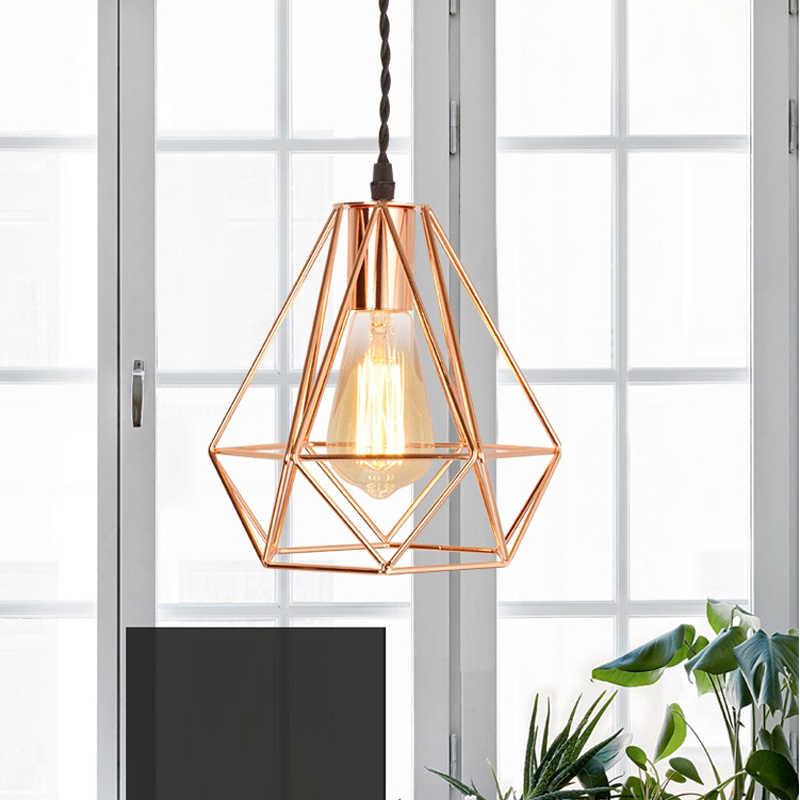 Creative Diamonds Shape Steel Frames Pendant Lighting-Industrial Lamps-Decorative Lighting-Steel Fixtures-Steel Lamp Shade-Diamonds Lamps