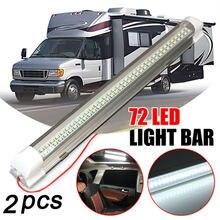 1 шт 12 В 72 светодиода световая полоса для салона автомобиля