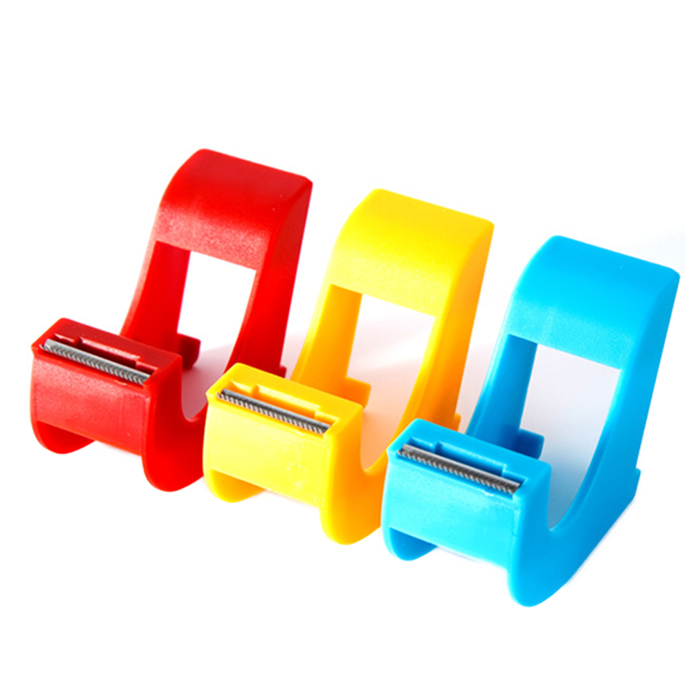 Practical Plastic Adhesive Tape Dispenser Double Sided Tape Holder With Tape Cutter