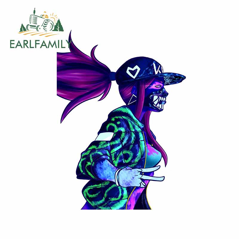 EARLFAMILY 13cm x 9.4cm for Kda Akali League of Legends Personality Decal Creative VAN Car Stickers Waterproof Fashion for VAN