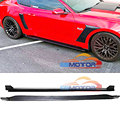 Real Carbon Fiber Side Skirts Extension Lip Aprons 1pair for Ford Mustang Coupe 2 Door 2015-2017 V6 V8 Non-Shelby GT350 F027