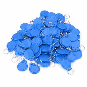 100 sztuk karta elektroniczna 13 56MHZ brelok do klucza niebieski pilot M1 klucz wejście straży karty inteligentny klucz tagi IC odznaka karta kontroli dostępu dla WIA-200C tanie i dobre opinie Automatyczne bram ICM1 2-5CM 10mm FM1108 ABS + Copper Coil 100pcs IC Cards Blue