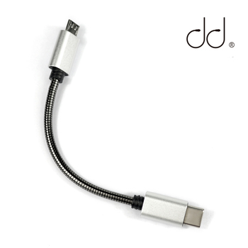 DD TC03 Type-C to Micro USB Audio Data Decoding Cable for FiiO Q1II Q5 and other Decoder