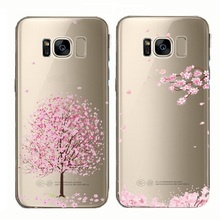 soft phone cover cherry blossoms flowe case for Samsung galaxy s10 s9 s8 s7 s6 edge plus s10e note 4 10 9 8 5