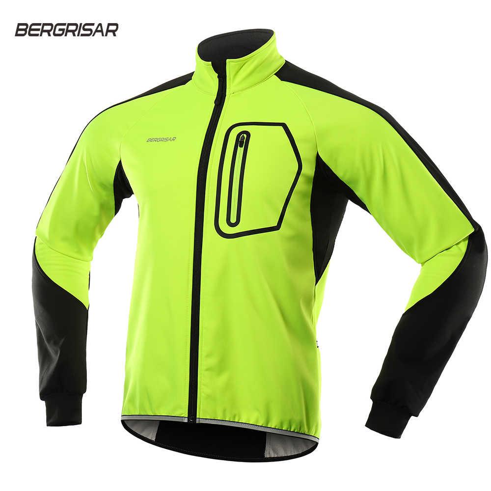 Men Winter Cycling Jacket Bike Jersey MTB Windproof Waterproof Soft shell Coat