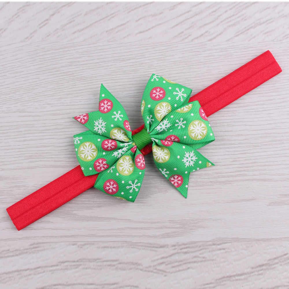 christmas kids Headwear turban Girls Infant Hair Band Bow Headbands FlowerTurban HairBand hair accessories