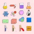 Синтетическая Молекулярная модель, металлическая брошь с эмалью, тестовая трубка, Beaker, значок, булавка, трендовый, Scholar, платье, рюкзак, ювели...