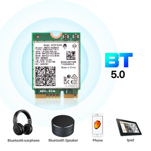 Image 3 - 2.4 5gbpsのデュアルバンドのwi fi 6 AX201ワイヤレスアダプタbluetooth 5.0インテルAX201 AX201NGW ngff鍵e M.2 802.11ax CNVIO2無線lanカード