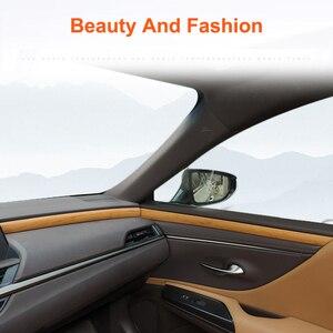 Image 1 - QHCP Auto Dashboard Streifen Tür Innere Panel Aufkleber Schneidet Holz Innen Zubehör Carbon Faser Stil Für Lexus ES200 260 300H 2018
