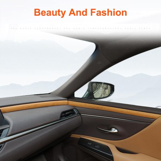 QHCP Auto Dashboard Streifen Tür Innere Panel Aufkleber Schneidet Holz Innen Zubehör Carbon Faser Stil Für Lexus ES200 260 300H 2018