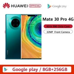 Перейти на Алиэкспресс и купить original huawei mate 30 pro 8g 256gb 6.53'' screen smartphone kirin 990 triple cameras 40mp front camera 32mp android 10 emui 10