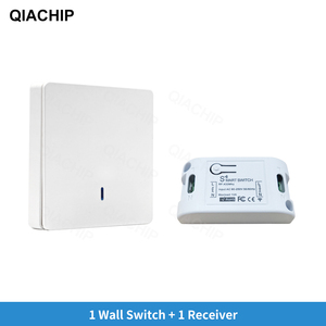 Image 2 - QIACHIP AC 110V 220V 433Mhz אוניברסלי ממסר 1CH אלחוטי שלט רחוק מתג מקלט מודול + RF קיר פנל כפתור led מנורה