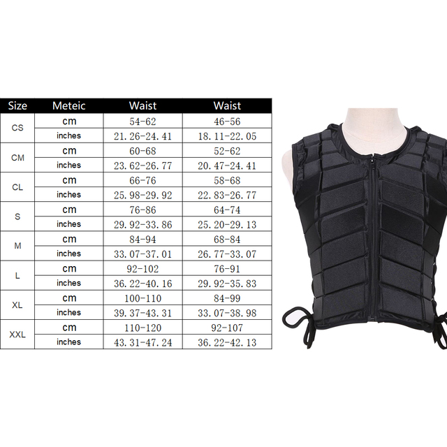 Adult Safety Body Protective Riding Armor Equestrian Sports EVA Padded For Male/Female,  6