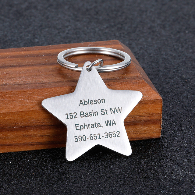 Engraved Tag, Personalized Puppy Pet ID, Pet Tags for Dogs - Cats - Kittens  4