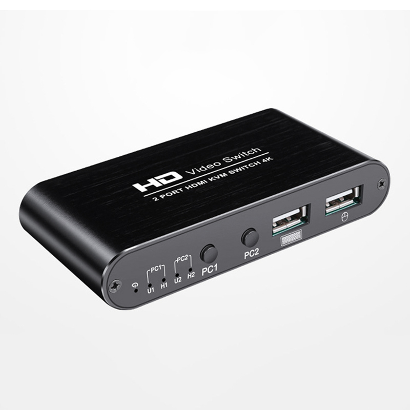 2 Port 4K USB HDMI KVM Switcher Video Display Hot Key Switch For PC Laptop Printer Mouse Keyboard Share Switcher