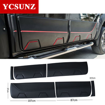 2018 For Mazda BT50 Accessories Matte Black body cladding side door trim For Mazda BT-50 2012 -2018 2019 2020 Car Styling Ycsunz image