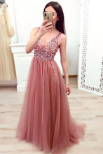 2020 Summer Women's Bronzing Mesh V-neck Jumpsuit mermaid Wedding Dress New Ball Gown gala Elegant Long sexy Evening Dresses(China)
