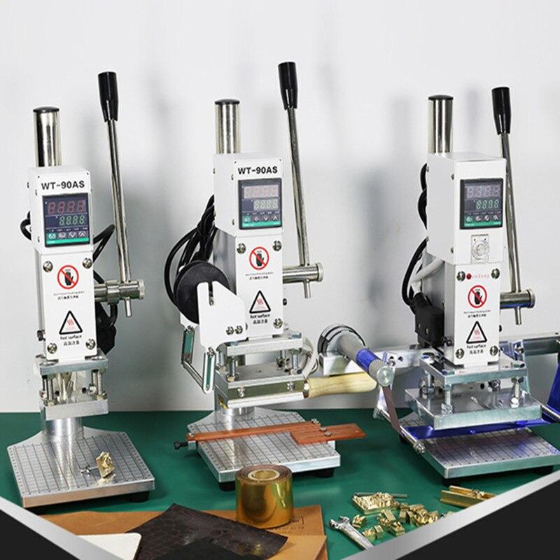 Heißfolienprägung maschine leder stempel relief presse werkzeug logo custom Manuelle Digitale PVC Karte Buch Papier Wärme Drücken Maschine