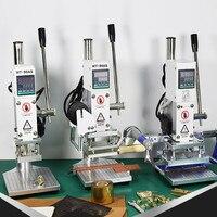 Hot foil stamping machine leather stamp emboss press tool logo custom Manual Digital PVC Card Book Paper Heat Press Machine