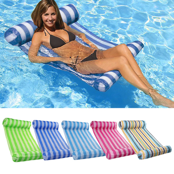 1pcs Water Hammock recliner Swimming Pool Beach Lounger Floating Sleeping Cushion Foldable Inflatable Bed Chair Air Mattress image