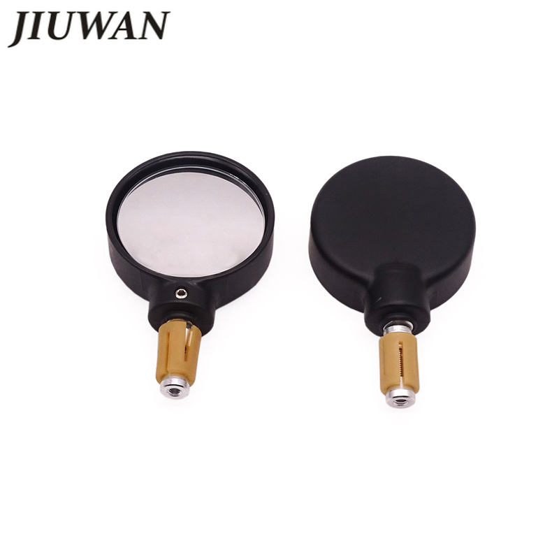 1 Pair Motorcycle Handle Bar End Rearview Side Mirrors Motorbike Rearview Mirror For 7 8 quot Universal Handlebar Round Side Mirror in Side Mirrors amp Accessories from Automobiles amp Motorcycles